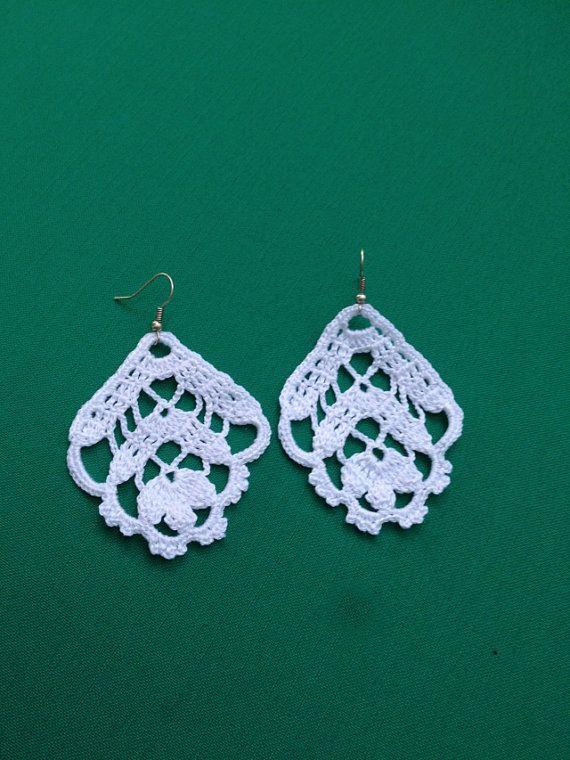 PDF Tutorial Crochet Pattern...Dangle Earrings 6