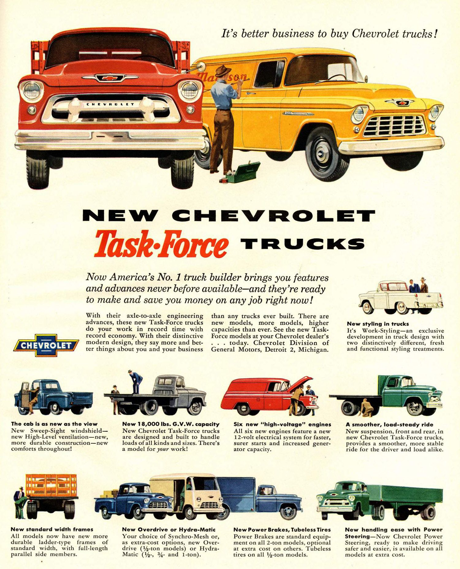 1955 chevrolet task force trucks