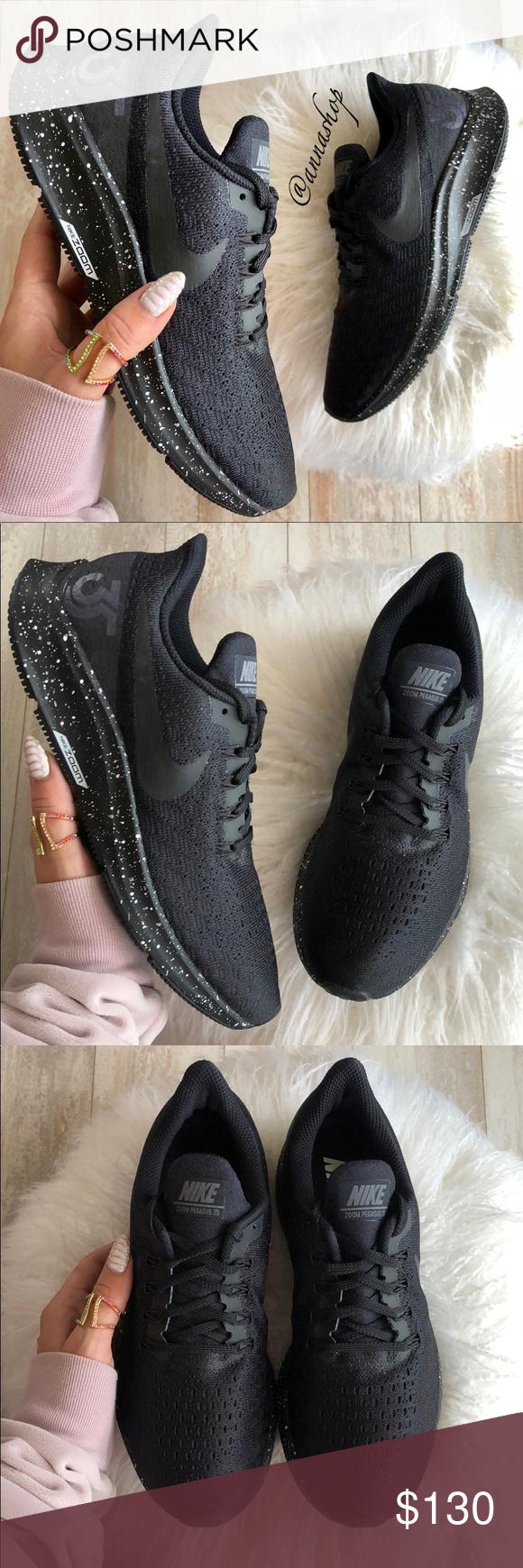 29a14aeeff55 NWT Nike ID Zoom Pegasus 35 Triple Black Brand new no box. Price is firm