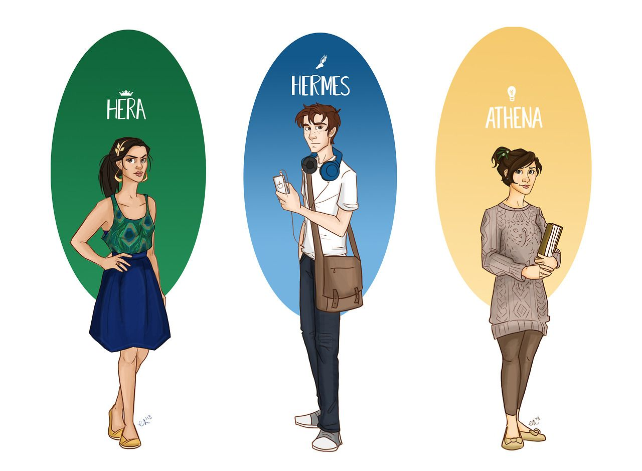 Some Of The Gods From The Percy Jackson Series.
