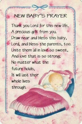 Pin By N Aggie On Baba Goedjies Prayer For Baby Baby Poems New Baby Quotes
