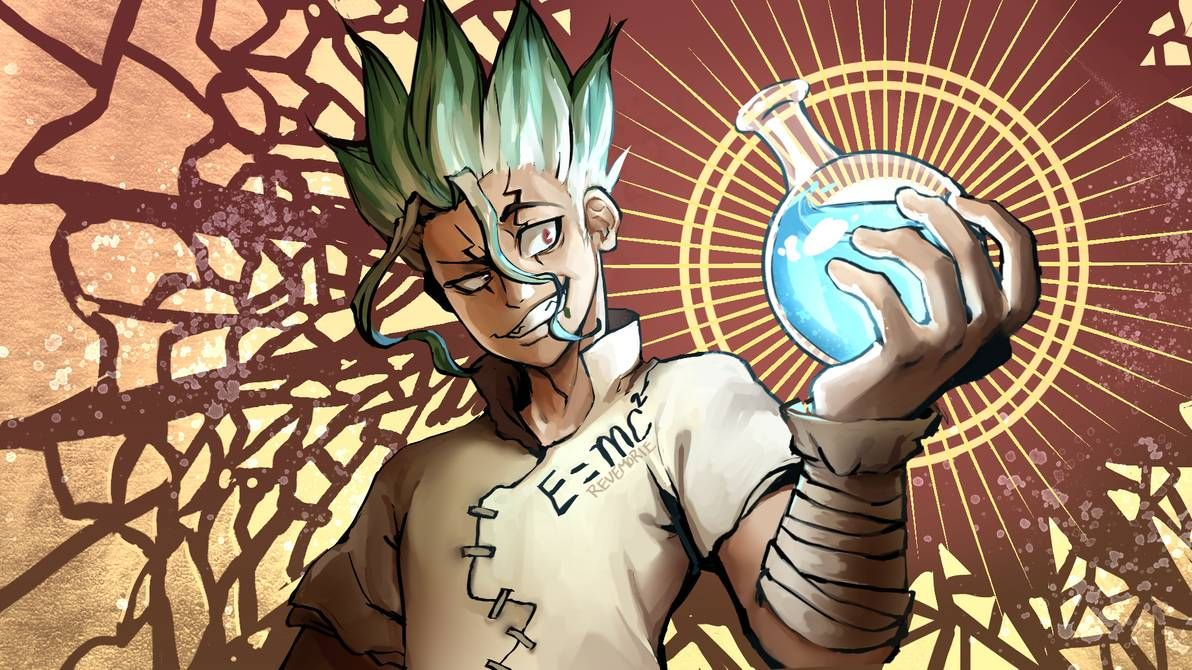 Senku from Dr. Stone by revemorie Hd anime wallpapers