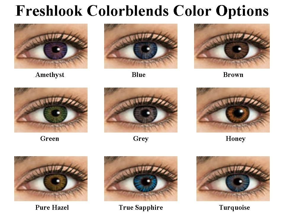 Discount Freshlook Colorblends Cosmetic Color Contact Lenses Us 15 80 Contact Lenses Colored Colored Contacts Contact Lenses