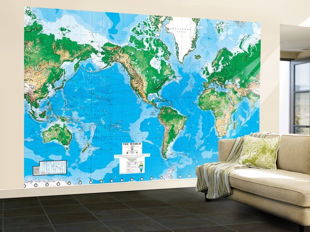 Amazon world map paper wall mural home kitchen nt room amazon world map paper wall mural home kitchen gumiabroncs Choice Image