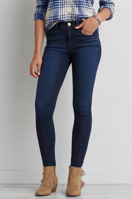 American Eagle American Eagle Outfitters Aeo Denim X Cafe Hi Rise Jegging Jeans American Eagle Jeggings Black Skinny Jeans Jeggings