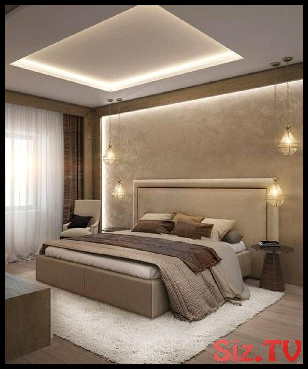 30 Popular Lighting Design Ideas For Bedroom Looks Beautiful 30 Popular Lighting Design Ideas For Bed Luxurious Bedrooms Luxury Furniture Detail Modern Bedroom