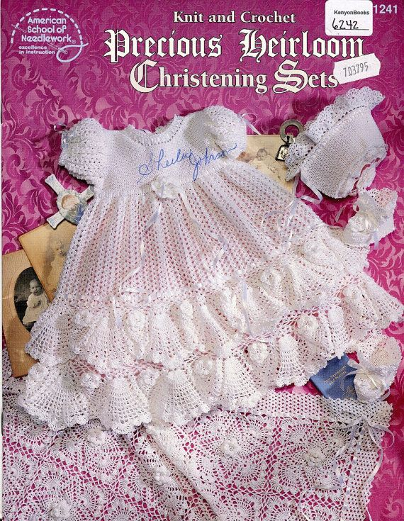 Heirloom Christening Sets Pattern Book Baby Knit By Kenyonbooks
