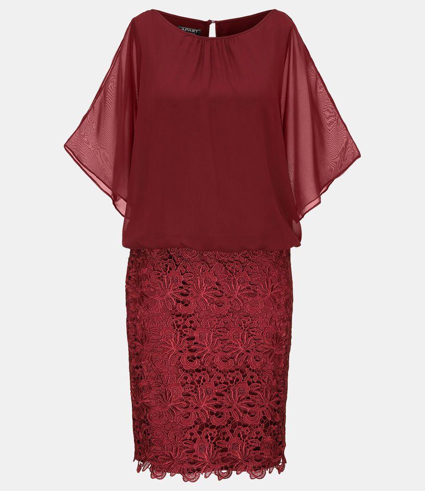 APART Abendkleid NEU Plus Size Curvy Chiffonkleid ...