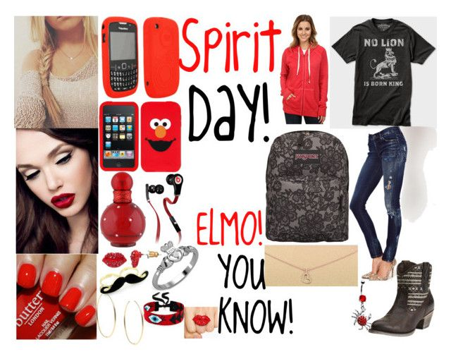 """Spirit Day!"" by lyssa630 ❤ liked on Polyvore featuring Britney Spears, Goldsign, Dogeared, Butter London, Beats by Dr. Dre, Juicy Couture, Michael Kors, Ariat, JanSport and Rip Curl"