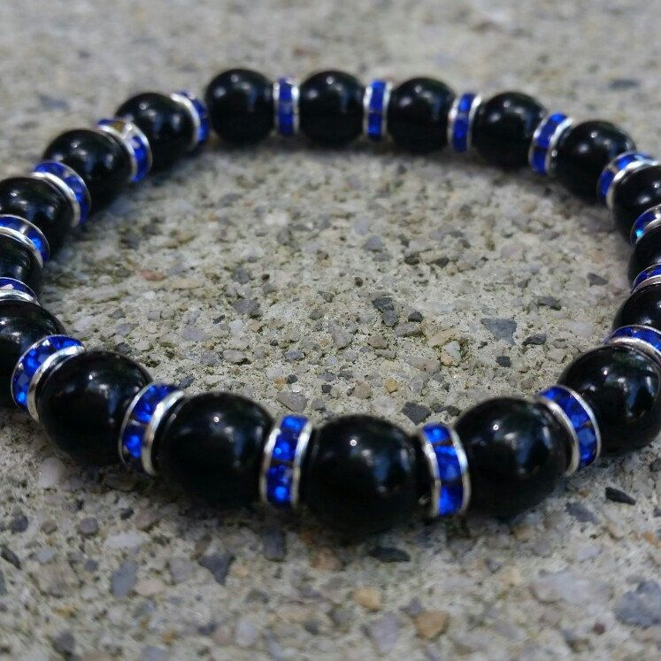 bracelets bracelet paw bead people thin line helps product talking for armor provide with black blue on body stack charm instagram