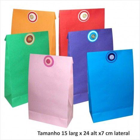 870ba895e Saco de papel para presentes cores várias | Sacolas para presentes ...