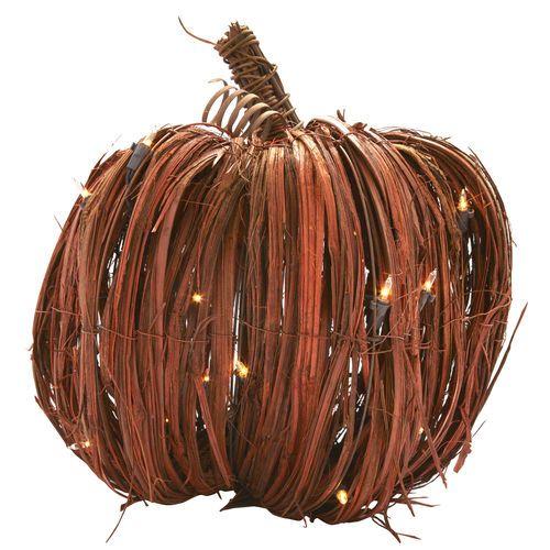 Lighted Grass Pumpkin, 135\ - halloween lighted decorations