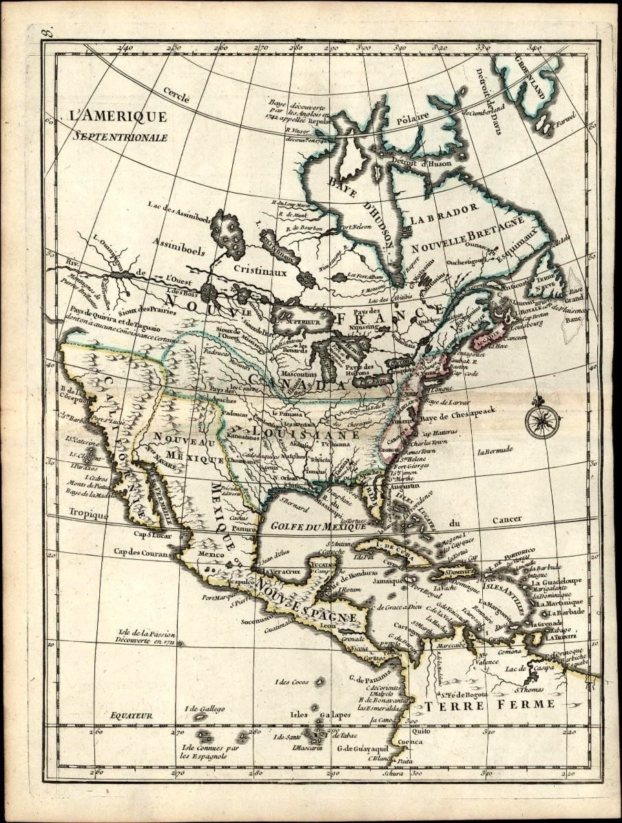 North american river of the west passage continent 1748 antique north american river of the west passage continent 1748 antique map le rouge sciox Gallery