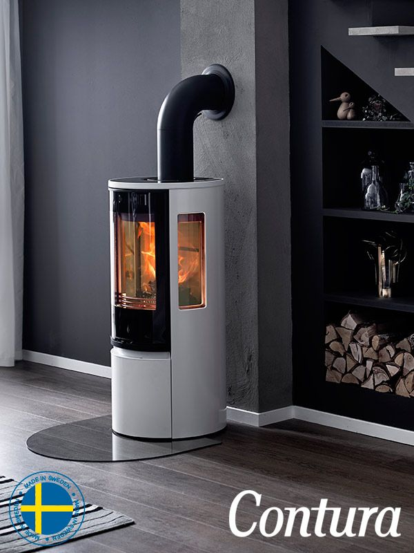 The White Stove Contura 556 Style With Glass Door Is One Of The