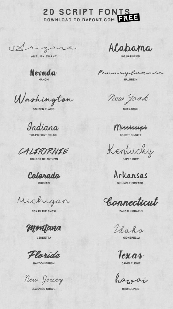 Voici Une Selection De Polices D Ecriture Scriptes Telechargeables Gratuitement Sur Dafont Enjoy Ecriture Tatouage Typographie Tatouage Police Tatouage