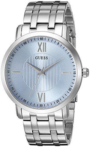 men s wrist watches guess mens u0716g1 classic silvertone watch men s wrist watches guess mens u0716g1 classic silvertone watch sky blue dial to
