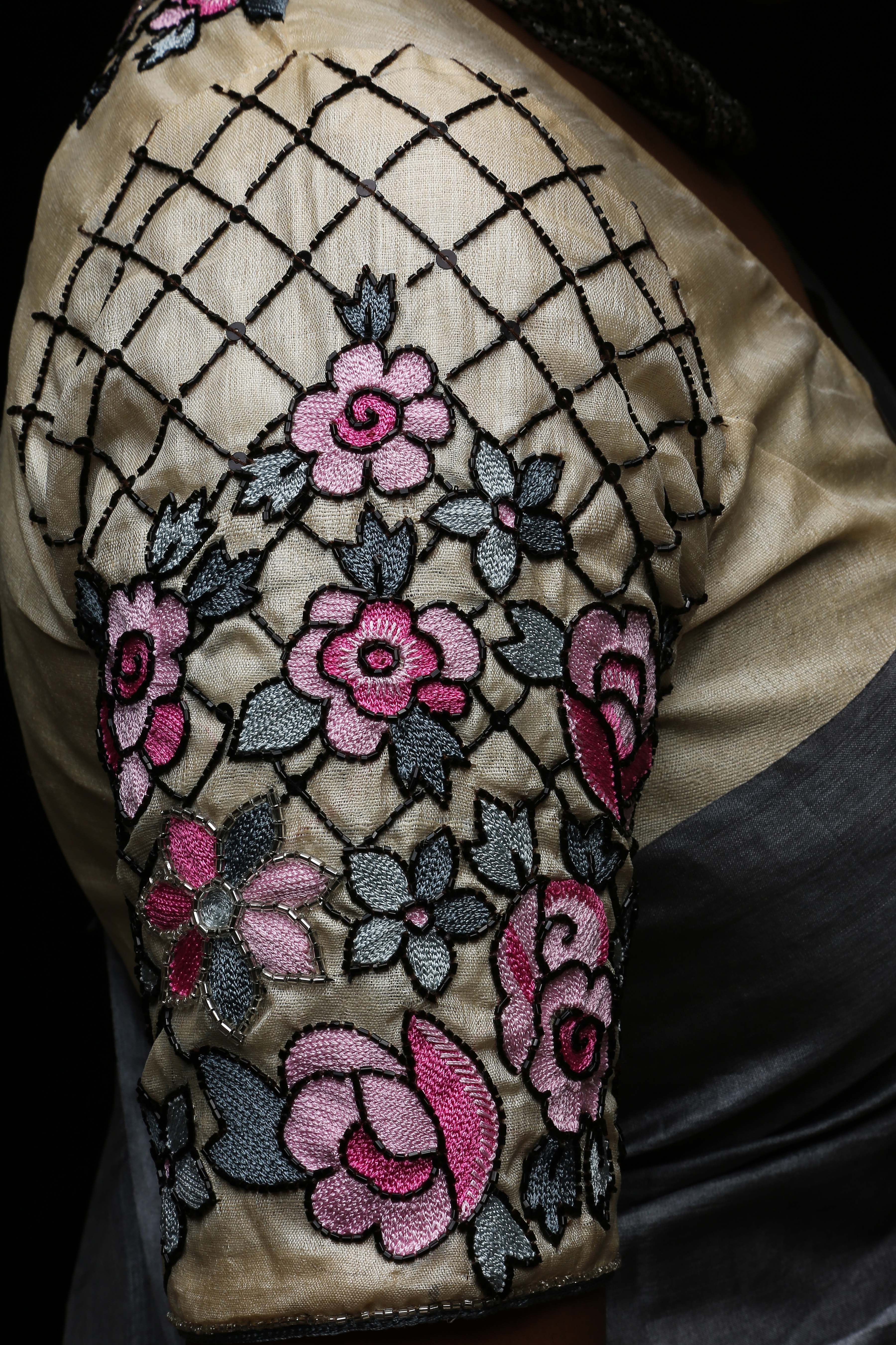 Modern Embroidery Blouse Design