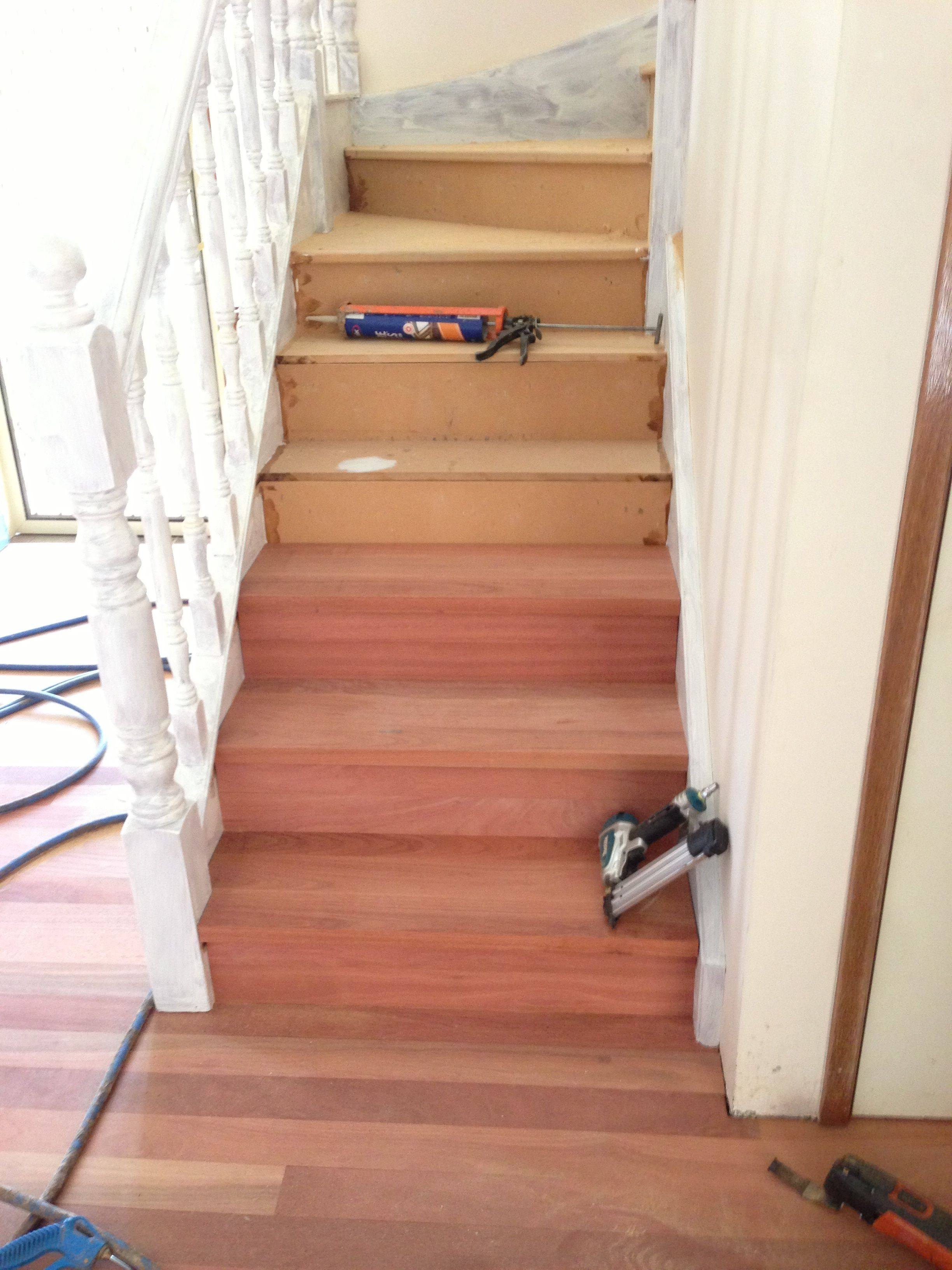 Staircase Makeover And Timber Floor. The Old Carpet Was Removed From The  Existing MDF Staircase