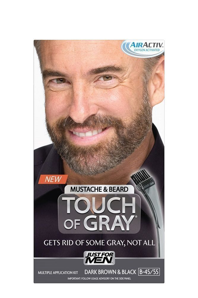 Just for Men Touch of Gray Mustache and Beard Hair Color - Dark ...