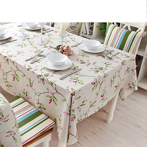 Cotton Linen Coffee Table Cover Living Room Tablecloth Rectangular Captivating Dining Room Tablecloths Design Inspiration