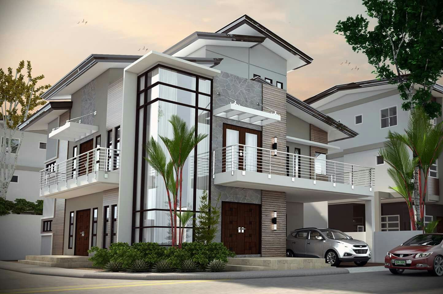 Exterior design for home  Pin by Marirose Lazo on Facade  Pinterest  Modern house design