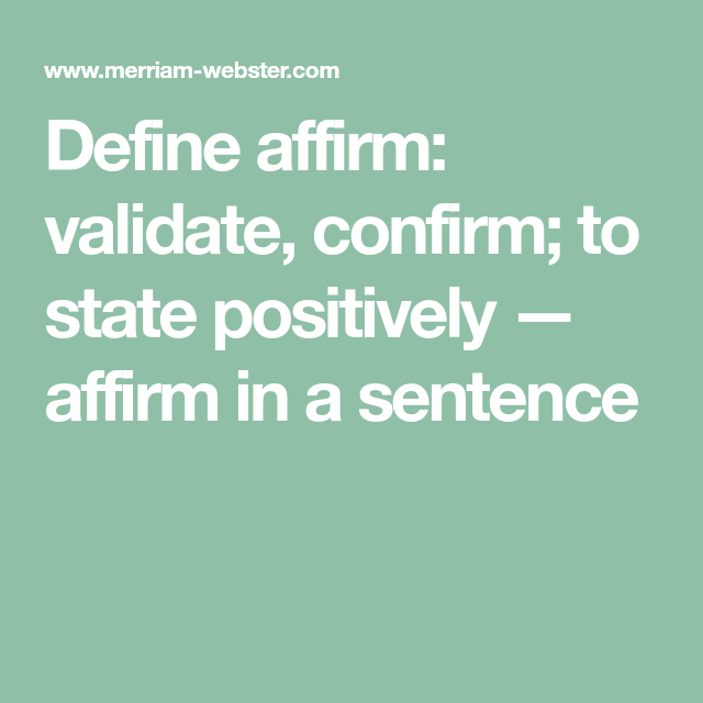 confirm in a sentence
