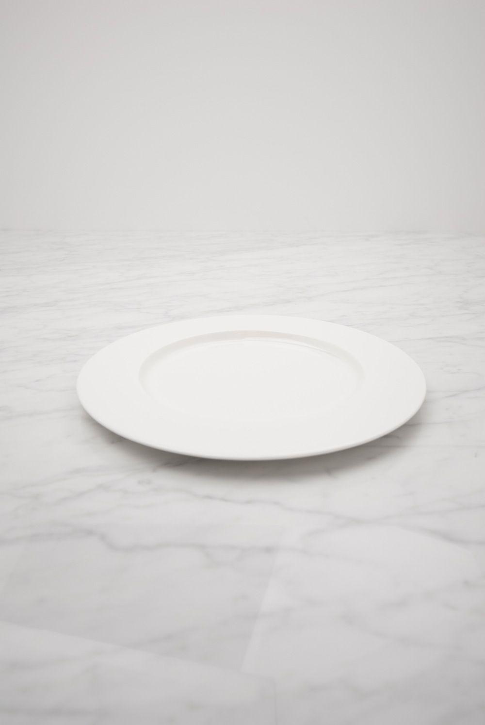 Conjunto de 6 unidades de plato llano di metro 28 cm - Platos porcelana blanca ...