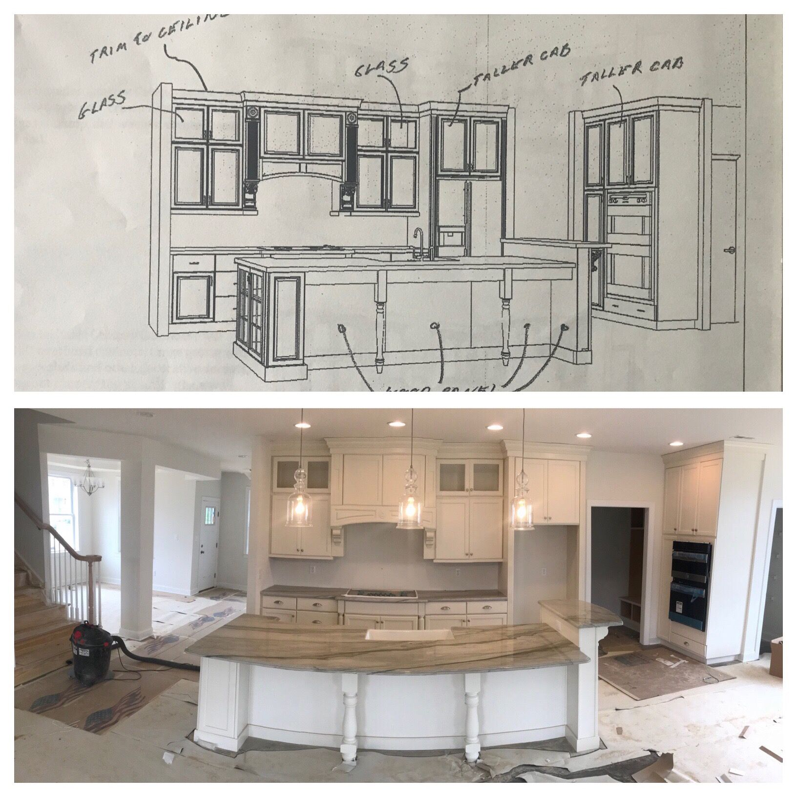 White Kitchen Cabinets Large Island: From Design To Almost Done! Eggshell White Kitchen