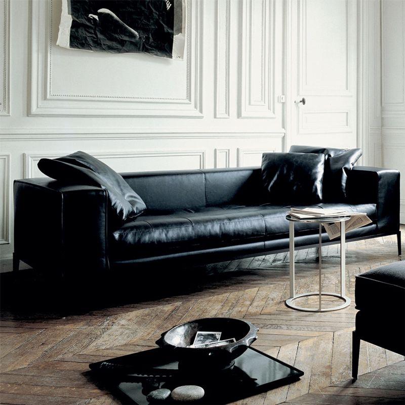 Sofa Series Simplex Smd 1 By Maxalto Dieter Horn Wohnzimmer Sofa Wohnen Ledersofa Schwarz