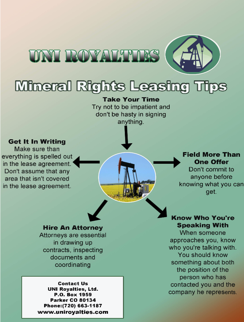Although Mineral Rights Can Be A Lucrative Source Of Income