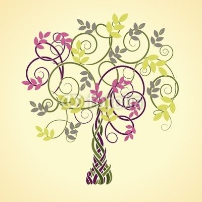 celtic pink tree of life … | Pinteres…