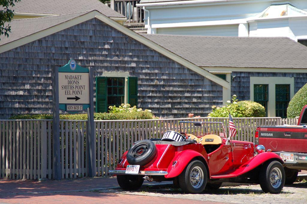 Cool red car Nantucket island, Nantucket, Beautiful