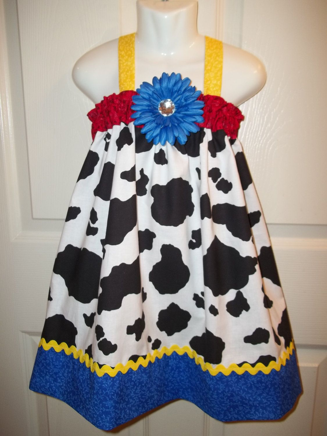 Yellow dress 3-6 months  Toy Story costume outfit cowgirl Jessie Barnyard farm baby girl st