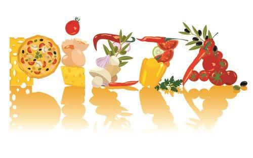 Creative Pizza design elements vector set 02