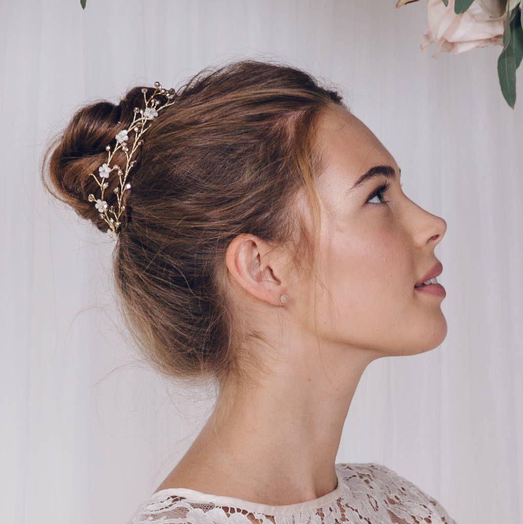 High Bun With Tiara Wedding Hair Beauty Elegant Wedding Hair Headband Hairstyles