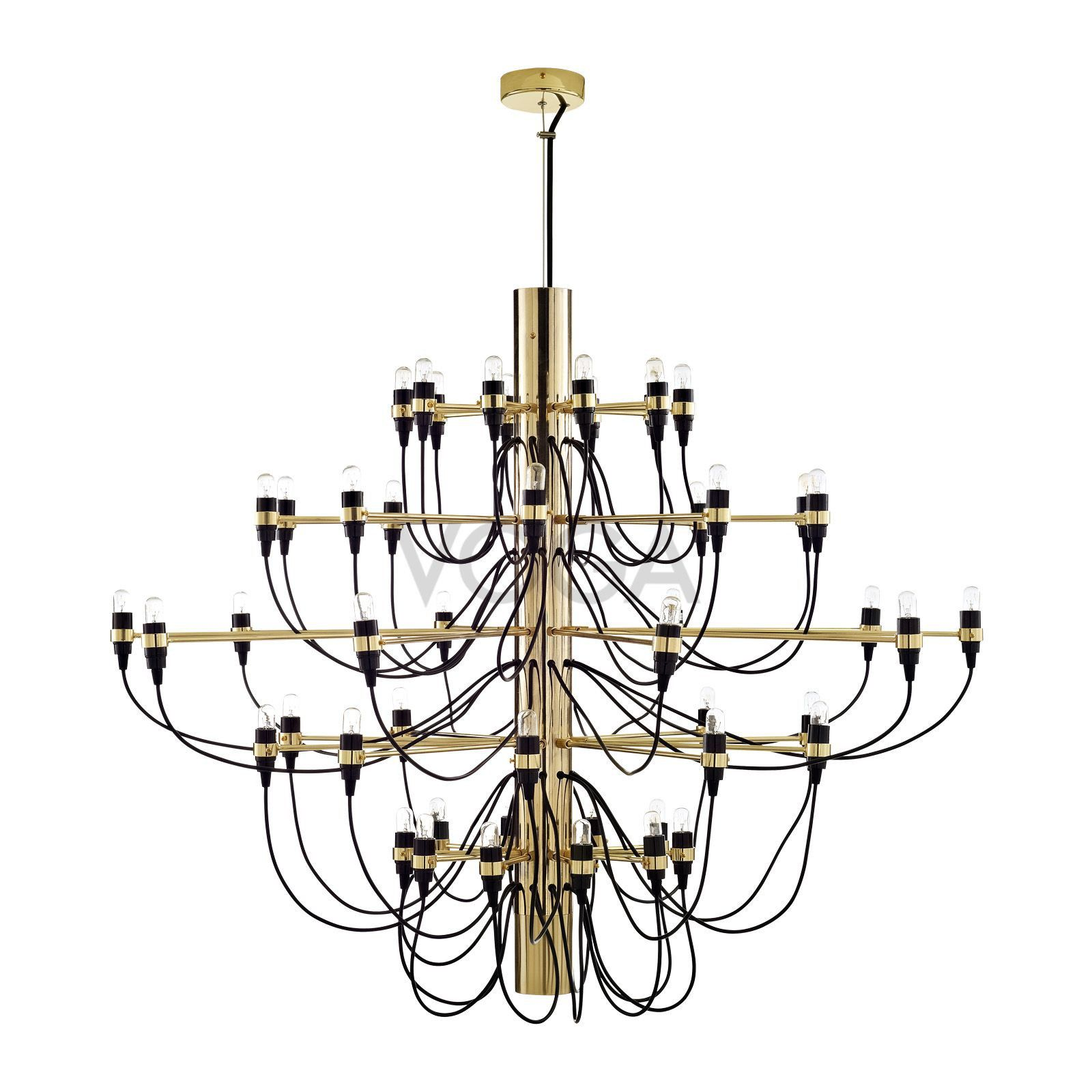 Impressive Design From 1958 Available In Silver Gold And Brass Colours As A 30 Or 50 Light Chandelier Gino Sarfatti Glamorous