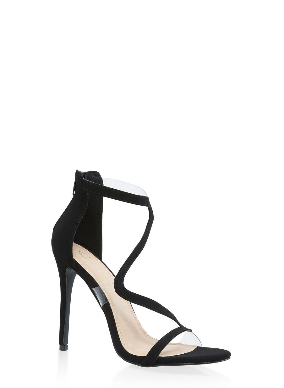 c45fc570b65 Wavy Strap High Heel Sandals - Black - Size 7.5 | Products in 2019 ...