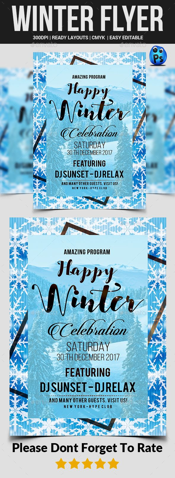 Winter Flyer  Flyer Template Template And Adobe