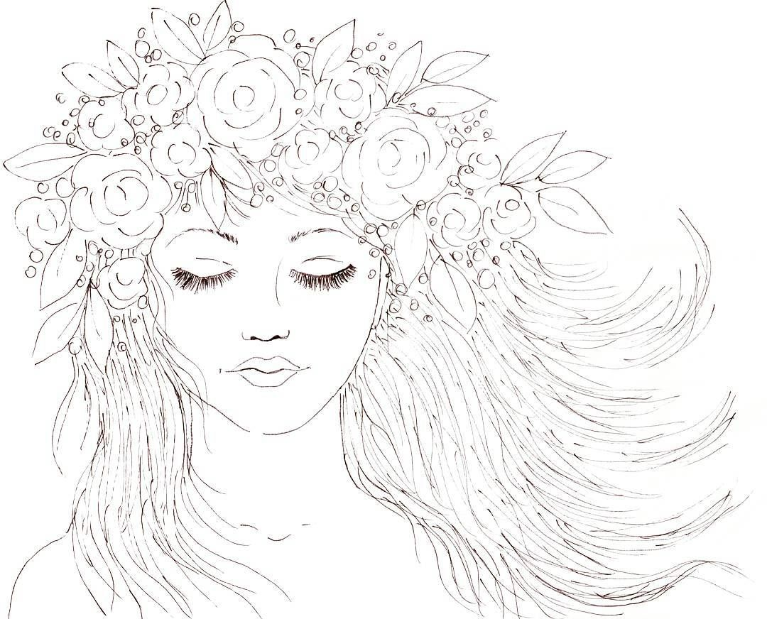 Boho Girl with a Crown of Flowers in her Hair. Youtube