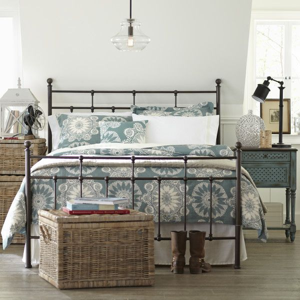 Pottery Barn Style Iron Bed Frame For Less. Modern Farmhouse Style Bedroom.