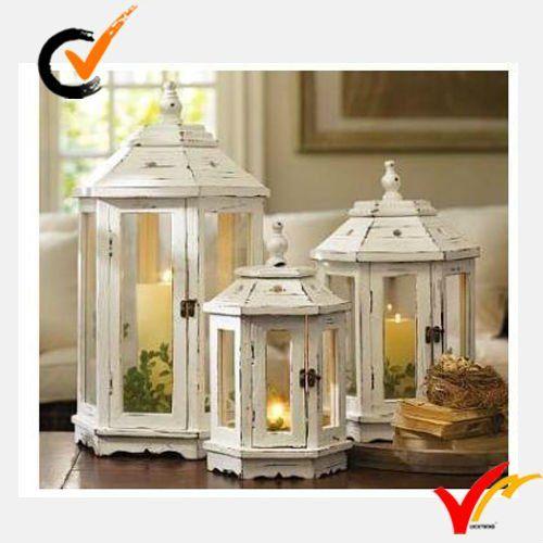 Antique lanterns for weddings holiday wedding decor for Wooden garden lanterns