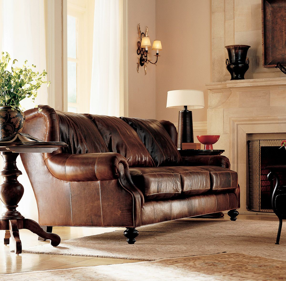 Henredon Arthur Sofa Living room leather, Henredon