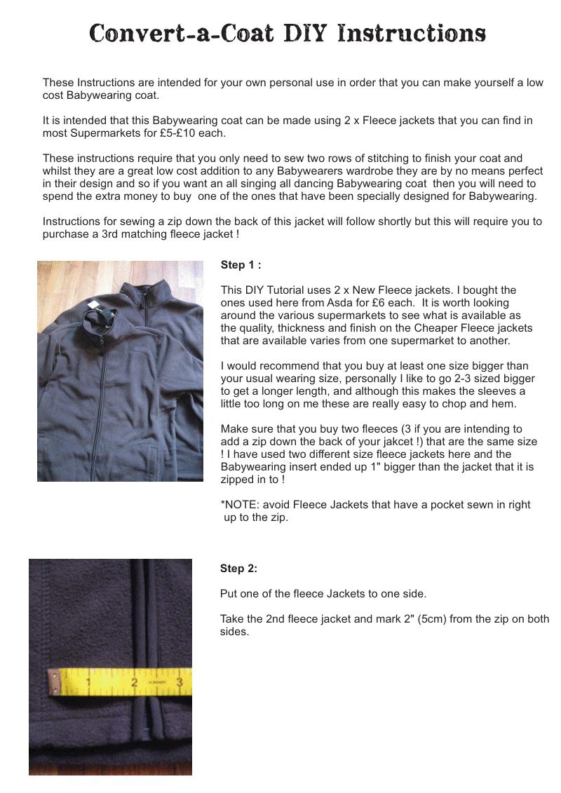 Convert A Coat Free Diy Instructions Tula Pinterest Baby