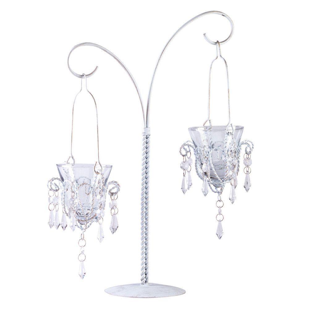 Mini-chandelier Votive Stand | candles | Pinterest | Mini chandelier ...