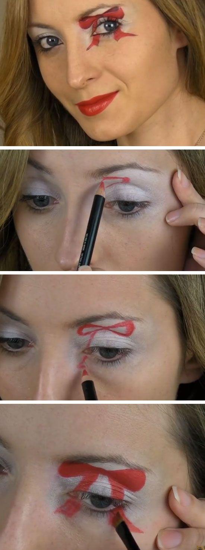 Christmas Bow Makeup Tutorial