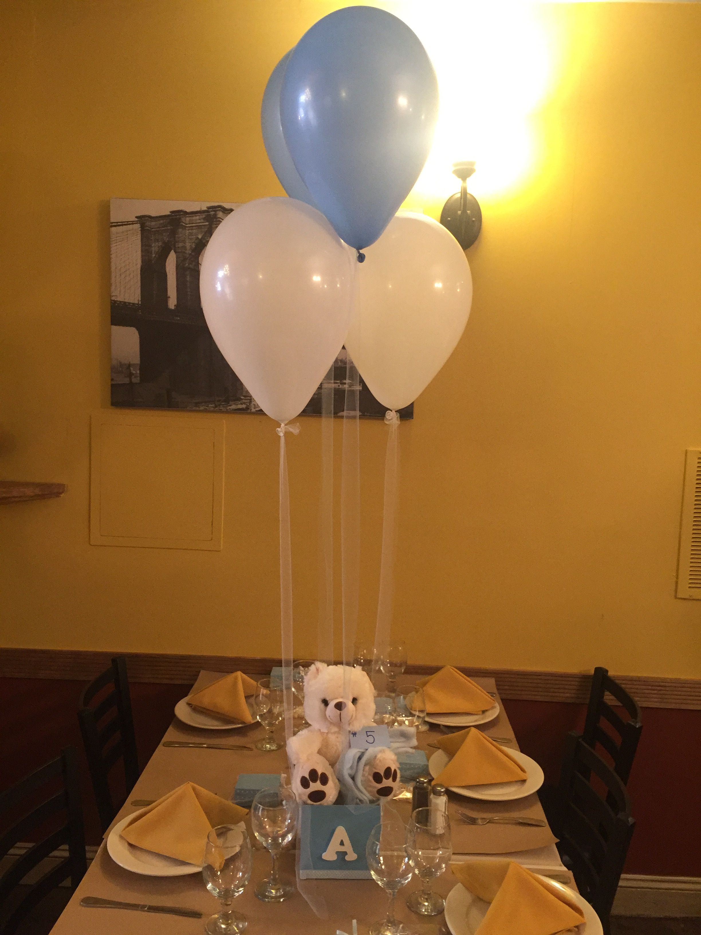 Super Cute Centerpieces Simple Balloons With Tulle Fit Right Into