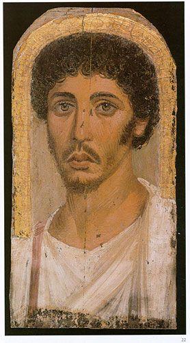 Al Fayum - Retrato de momia de un joven. Egipto romano, c. 150-170 dC / © The Trustees of the British Museum. All rights reserved