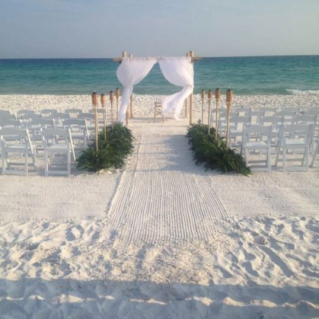 beautiful and simple beach wedding would also be beautiful with a lighthouse