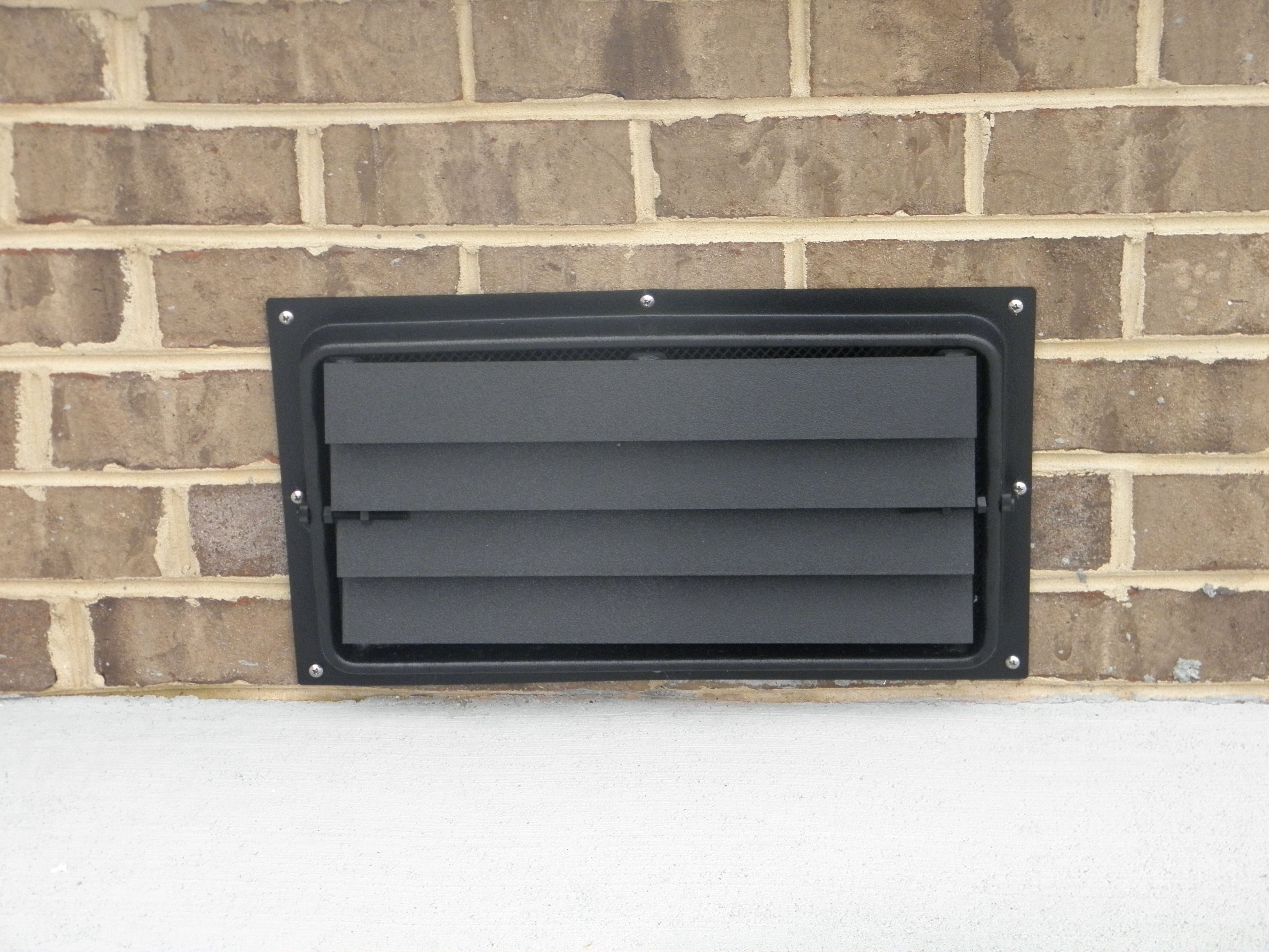 This Is Our 8x16 Flood Vent Currently Installed On A Brick Foundation Flood Vents Crawl Space Vents Flood