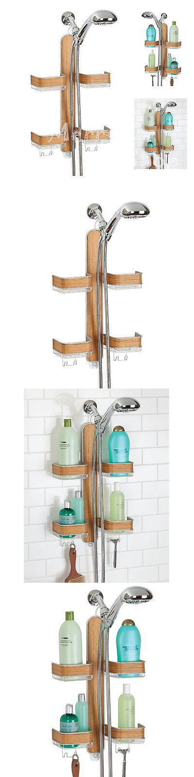 Bath Caddies and Storage 54075: Bamboo Shower Caddy Bathroom Shelves ...
